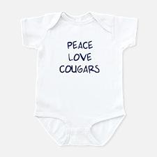 Peace, Love, Cougars Infant Bodysuit