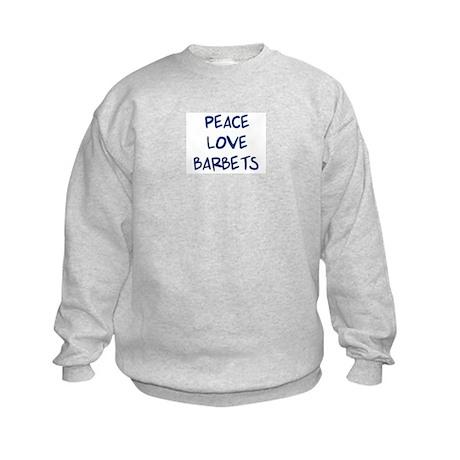 Peace, Love, Barbets Kids Sweatshirt