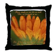 Memaw Orange Daisy Throw Pillow