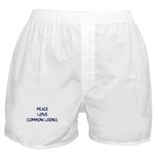 Peace, Love, Common Loons Boxer Shorts
