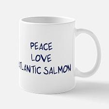 Peace, Love, Atlantic Salmon Mug
