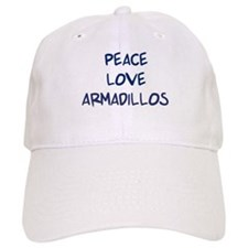 Peace, Love, Armadillos Baseball Cap