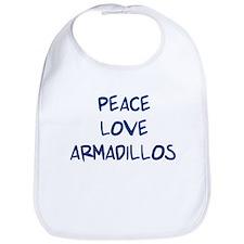 Peace, Love, Armadillos Bib