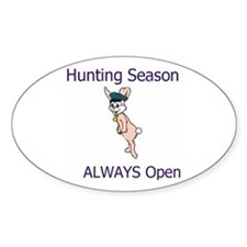 Open Season Oval Decal