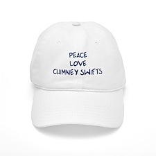 Peace, Love, Chimney Swifts Baseball Cap