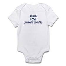 Peace, Love, Chimney Swifts Infant Bodysuit