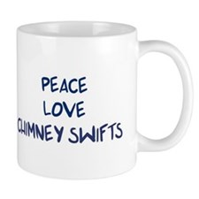 Peace, Love, Chimney Swifts Mug