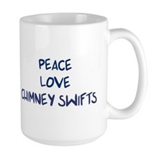 Peace, Love, Chimney Swifts Mug