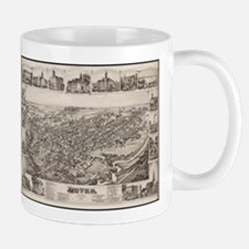 Vintage Pictorial Map of Dover Delaware (1885 Mugs