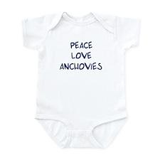 Peace, Love, Anchovies Infant Bodysuit