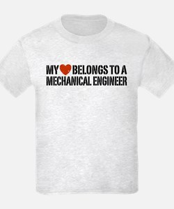 My Heart Belongs to a Mechanical Engineer T-Shirt