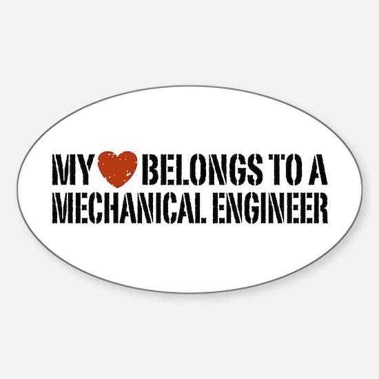 My Heart Belongs to a Mechanical Engineer Decal