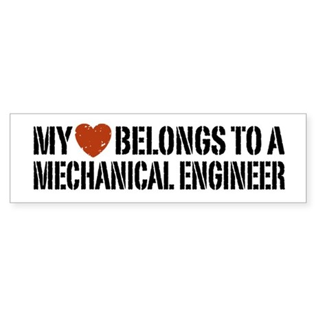 My Heart Belongs to a Mechanical Engineer Sticker
