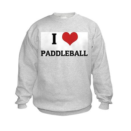 I Love Paddleball Kids Sweatshirt