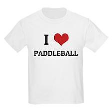 I Love Paddleball Kids T-Shirt