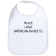 Peace, Love, American Avocets Bib