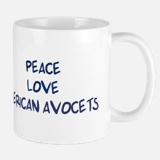 Peace, Love, American Avocets Mug