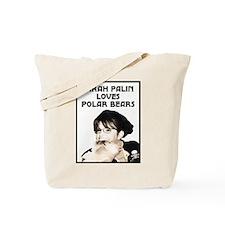 Sarah Palin Loves Polar Bears Tote Bag