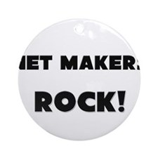 Net Makers ROCK Ornament (Round)