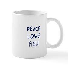 Peace, Love, Fish Mug
