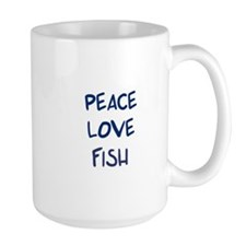 Peace, Love, Fish Mug