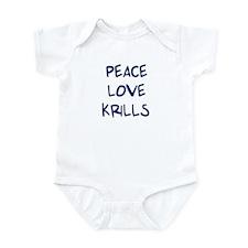 Peace, Love, Krills Infant Bodysuit