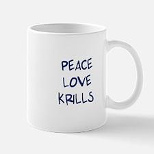 Peace, Love, Krills Mug