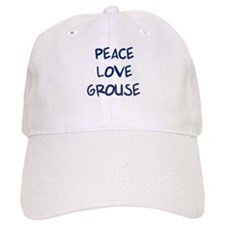 Peace, Love, Grouse Baseball Cap