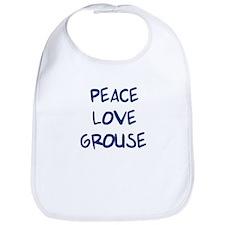 Peace, Love, Grouse Bib