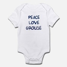 Peace, Love, Grouse Infant Bodysuit