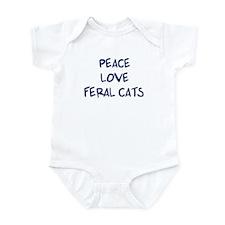 Peace, Love, Feral Cats Infant Bodysuit