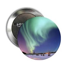 """Aurora Borealis 2.25"""" Button"""