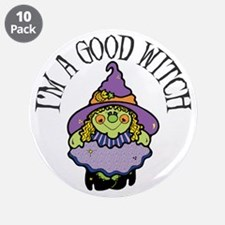 """Good Witch 3.5"""" Button (10 pack)"""