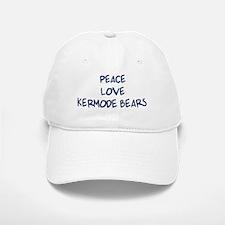 Peace, Love, Kermode Bears Baseball Baseball Cap