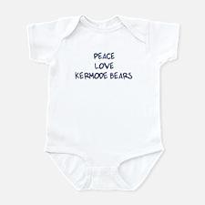 Peace, Love, Kermode Bears Infant Bodysuit