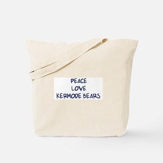 Peace, Love, Kermode Bears Tote Bag