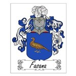 Fasana Family Crest Small Poster