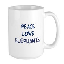 Peace, Love, Elephants Mug