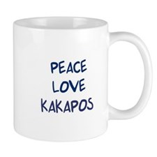 Peace, Love, Kakapos Mug