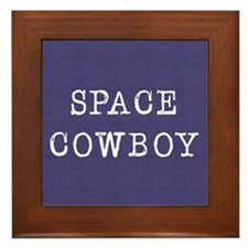 Space Cowboy Framed Tile