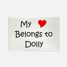 Cute Dolly Rectangle Magnet
