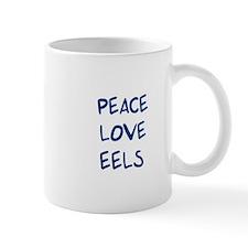 Peace, Love, Eels Small Mug