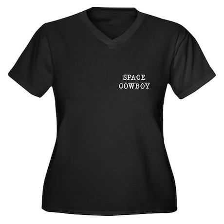 Space Cowboy Women's Plus Size V-Neck Dark T-Shirt