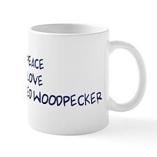 Peace, Love, Ivory-Billed Woo Mug