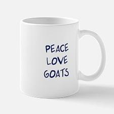 Peace, Love, Goats Mug