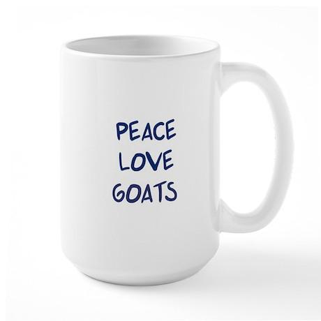 Peace, Love, Goats Large Mug