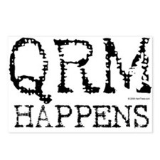 HamTees.com QRM Happens Postcards (Package of 8)