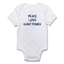 Peace, Love, Giant Panda Infant Bodysuit