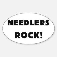 Needlers ROCK Oval Decal