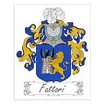 Fattori Family Crest Small Poster